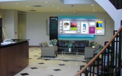 Corporate Interior Design  Lobby Displays  Training
