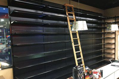 Liquor Store Shelving - Wood Ladder 12ft