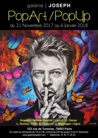 Exposition Pop-up Pop-Art Paris Galerie Joseph Affiche