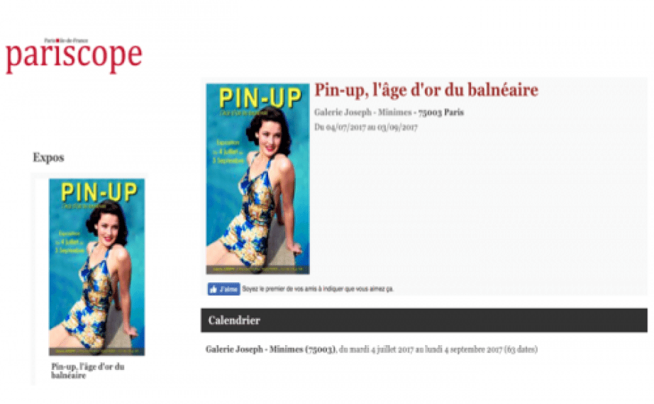 Exposition Pin Up Pariscope