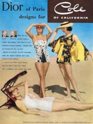 Exposition Pin-Up Cole of California Publicité Dior
