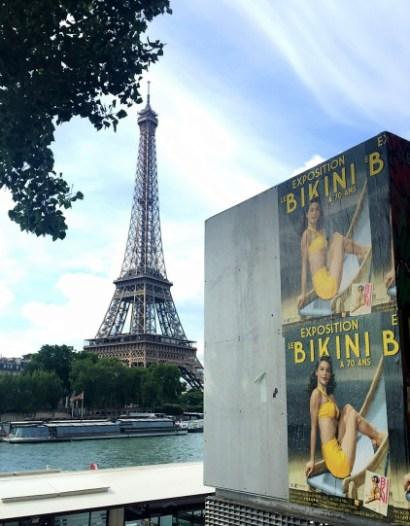 Exposition BIKINI Nuits de Satin Paris Affiche Tour Eiffel