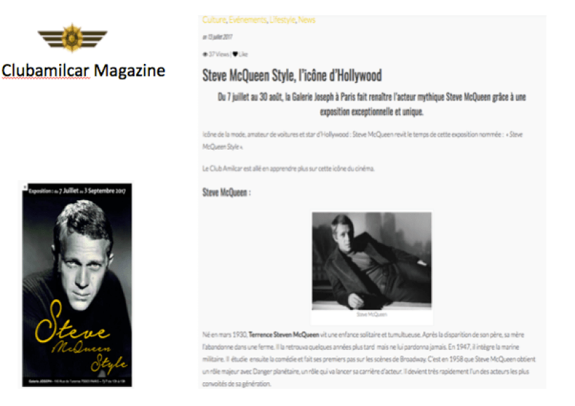 Steve McQueen Amilcar Magazine