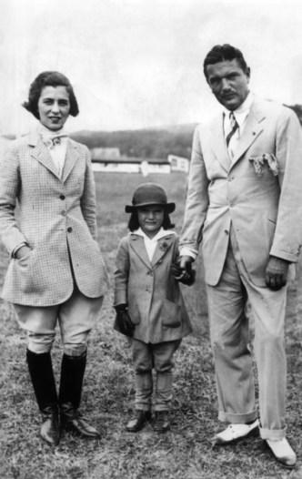 Jackie Kennedy enfant Janet John V. Bouvier Southampton 1934