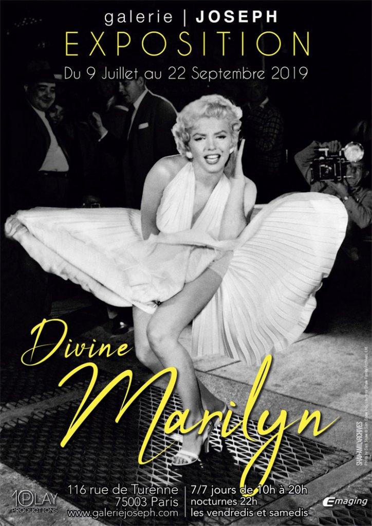 Exposition Divine Marilyn Monroe -Galerie Joseph