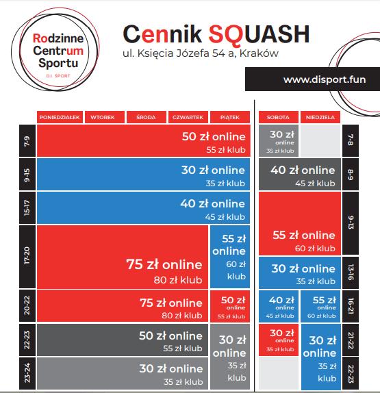 cennik squash