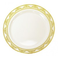 """Buy Gold colored plastic plates, 10"""" - package of 10 ..."""