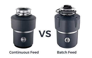 kitchen disposal small buffet difference between continuous feed and batch garbage