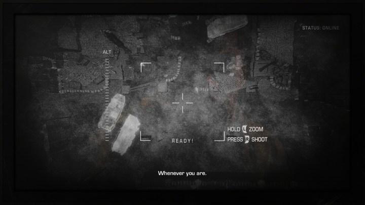 Cleveres Detail: Im Monitor sehen wir die Reflektion unseres Helden