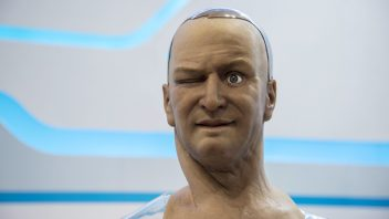 Humanoid robot recognises and interacts with real people