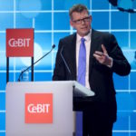 Thorsten Dirks speaks during the welcome night at the world's biggest computer and software fair CeBit in Hanover, Germany, March 14, 2016. REUTERS/Nigel Treblin