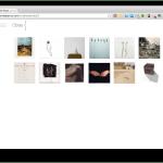 Pàgina d'inici de la web de l'artista
