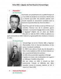 Liberté Paul Eluard Cycle 3 : liberté, eluard, cycle, Histoire, Arts:, Liberté, Eluard, Fernand, Léger, Fiche, Emilie