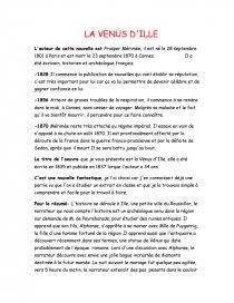 Resume La Venus D Ille : resume, venus, Venus, D'Ille,, Posper, Mérimée, Commentaire, Texte, Melle