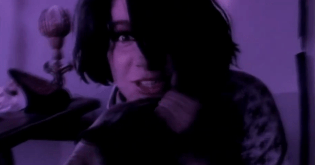 Johnette Napolitano from Concrete Blonde in Happy Birthday video