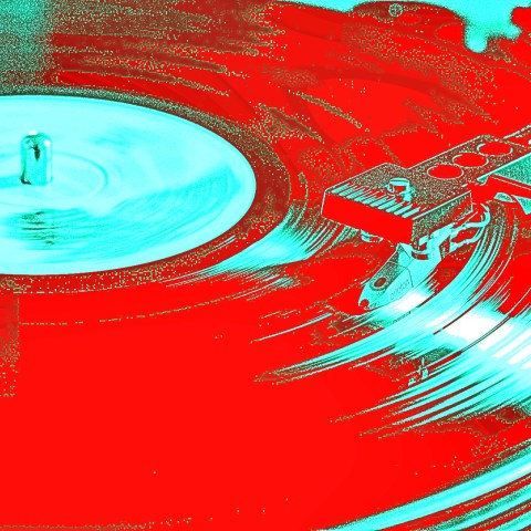 Album playing with vibrant colors
