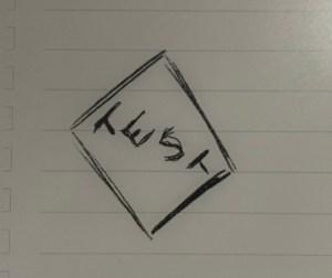 Figure 1: Before erasing