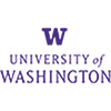 University of Washington Logo, purple W and words University of Washington