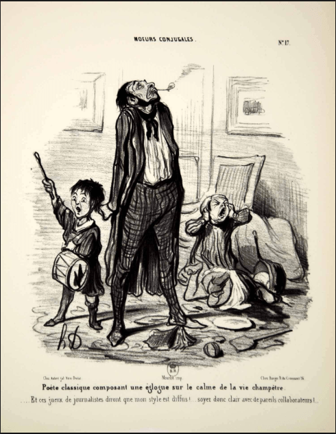 Married Life Noisy Rowdy Children, Honore Daumier