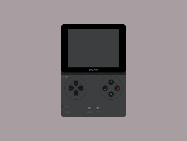 Sony Playman console front view