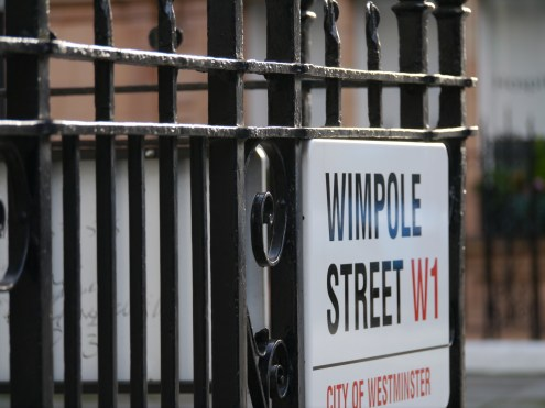 Turn the corner, and you will be on Wimpole Street