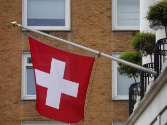 Swiss embassy flag