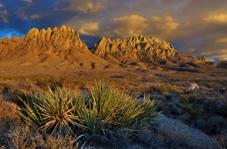 Richly colored desert mountains