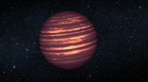 This artist's conception illustrates the brown dwarf named 2MASSJ22282889-431026.