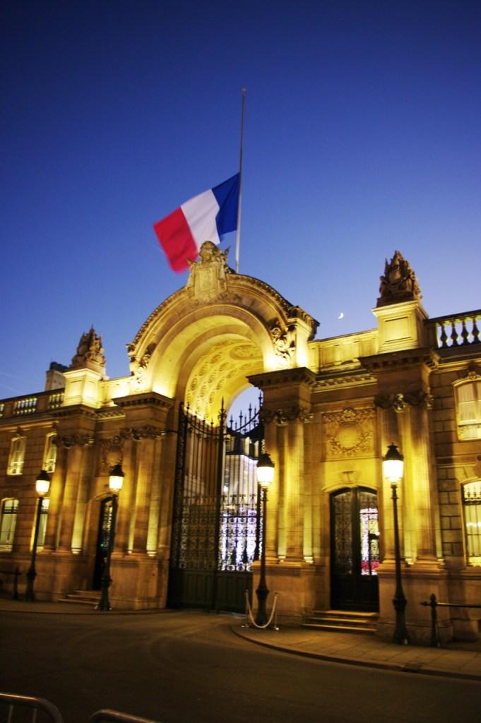 French flag half mast