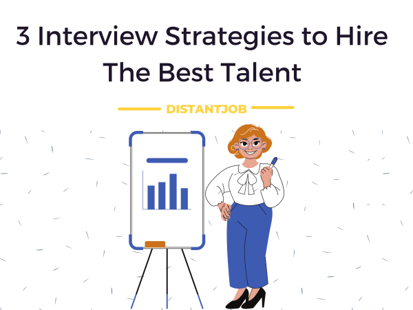 Woman showing a chart for best interview strategies
