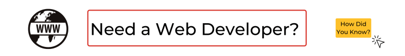 Need a web developer?