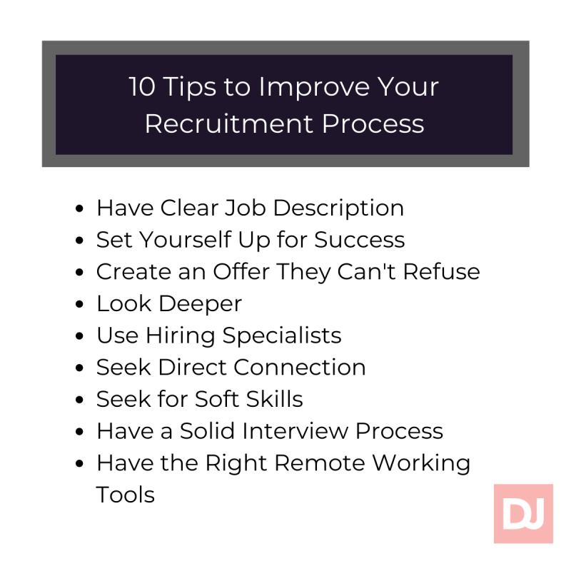 10 tips to improve your recruitment process