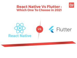 React Native Vs flutter the difference are being shown