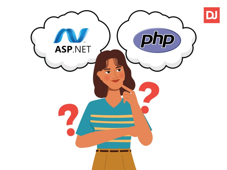 A girl thinking whether she should hire ASP.NET vs PHP