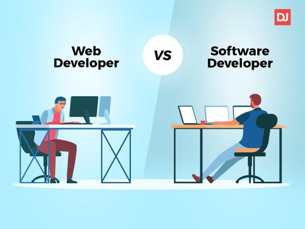 Web vs software development