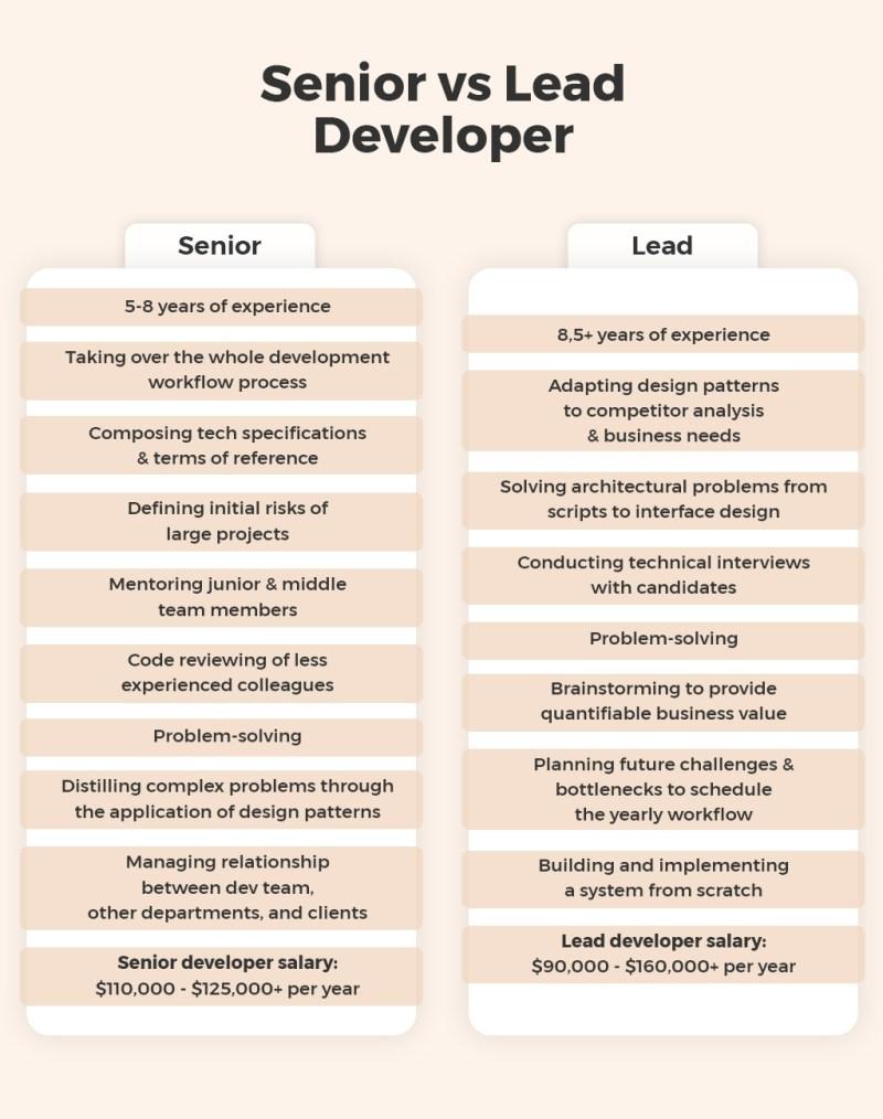 Senior vs Lead Developer