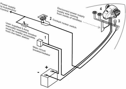 anchor windlass wiring diagram