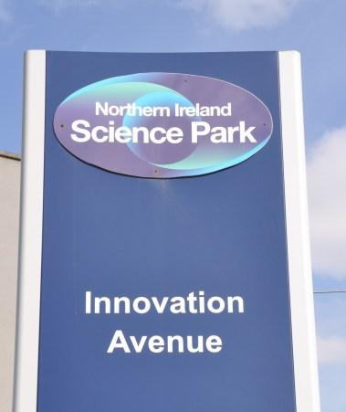 NI Science Park Sign