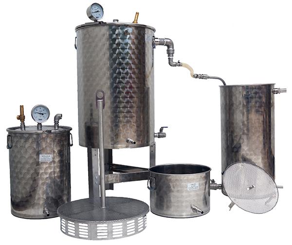 distillateur de plantes INOX multiplantes 25 +50 +150 litres