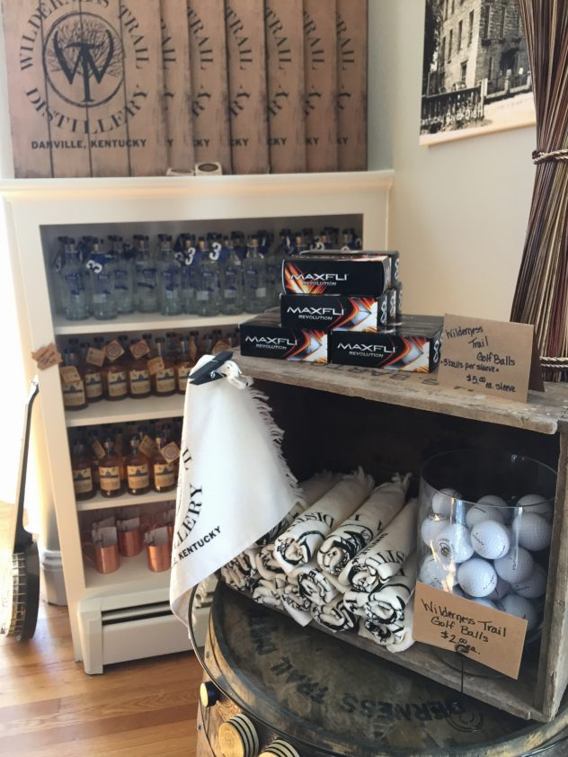 Gift shop at Wilderness Trail Distillery