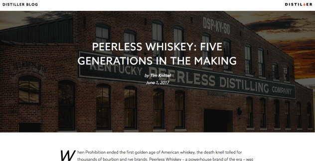 Peerless Whiskey: Five Generations in the Making