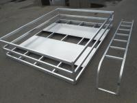 Custom Made Alum.Hay Racks & Ladder to Fit Your Trailers ...