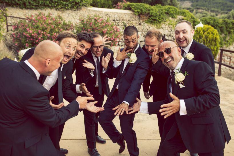 Jamie and his groomsmen
