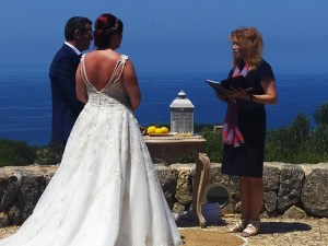A vow renewal in Deia, Mallorca with celebrant