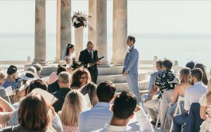 Wedding celebrant Jonas at iconic Mallorca venue, Son Marroig