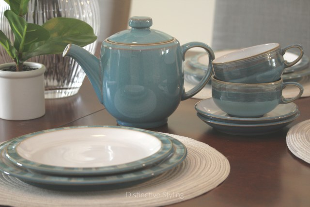 Dining room decor staging