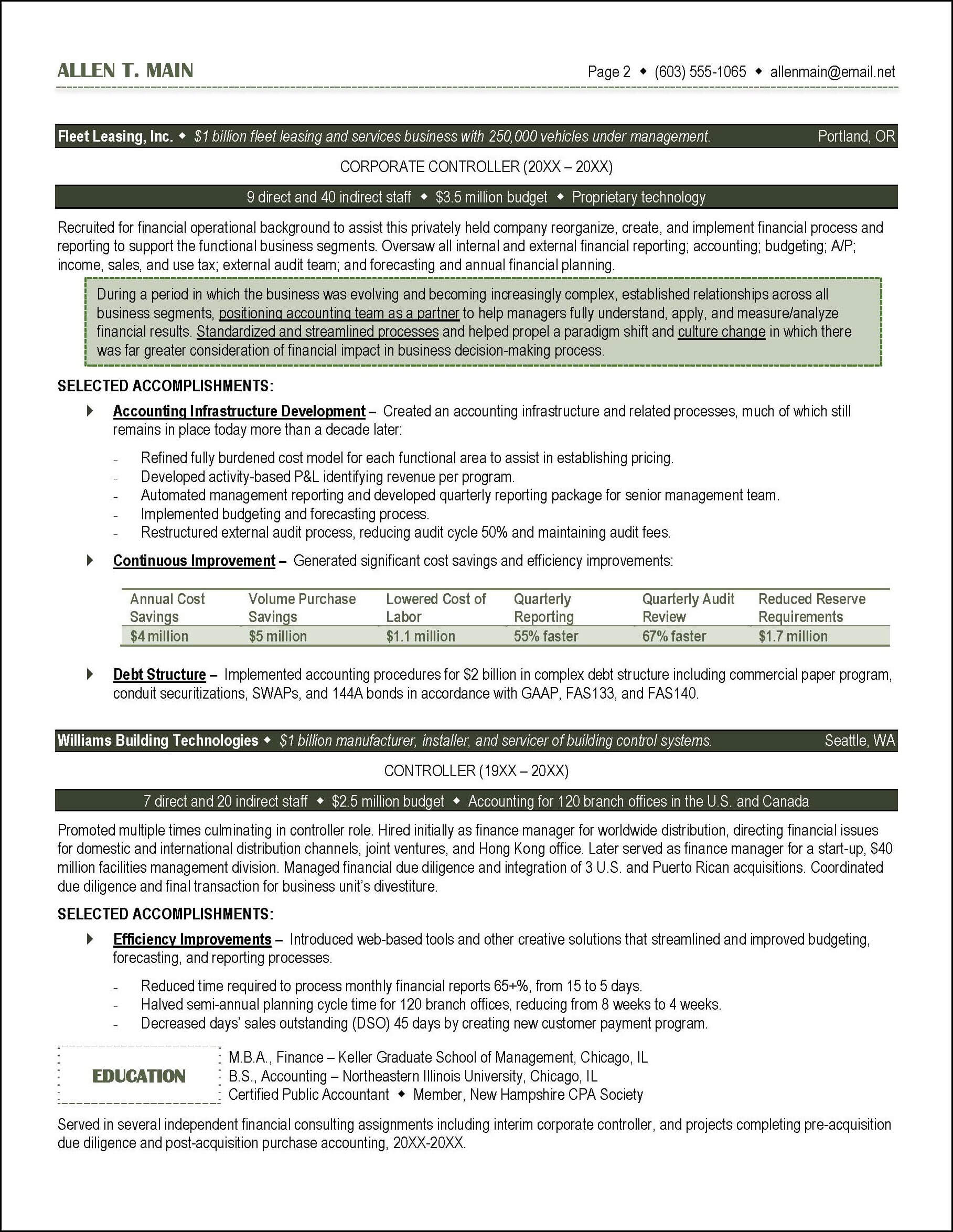 Investment Accountant Resume Accounting Resume Example Distinctive Documents