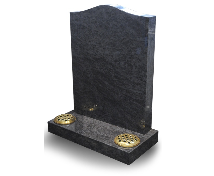 2ft 6in bahama blue ogee headstone