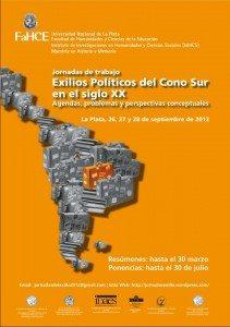 Participa en las Jornadas de trabajo sobre Exilios Políticos del Cono Sur, Universidad de La Plata
