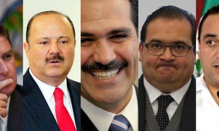 5 exgobernadores mexicanos presos, prófugos o investigados por corrupción